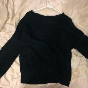 Lou & Grey drop shoulder black sweatshirt XS